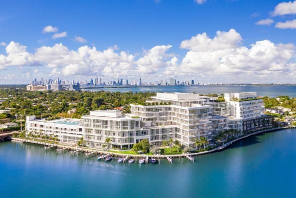 Drone View of The Ritz-Carlton Residences, Miami Beach
