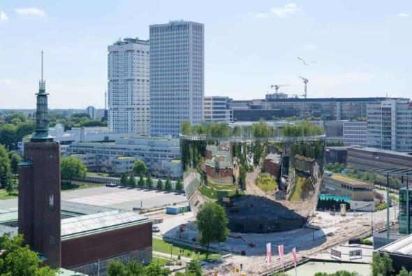 Depot Boijmans Van Beuningen completes construction in preparation for museum's big move