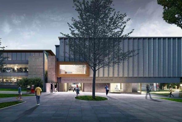 Exterior of The New Princeton University Art Museum