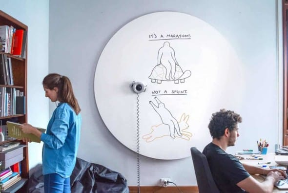 Scribit, the Wall-Mounted Drawing Robot to Uplift Your Workspace