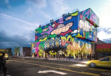 Market - MVRDV Reveals Glass Mural in Detroit, makes its debut in Midwestern United States