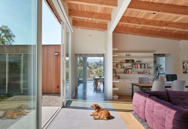 The expansive, indoor-outdoor qualities of the home are evident from every room