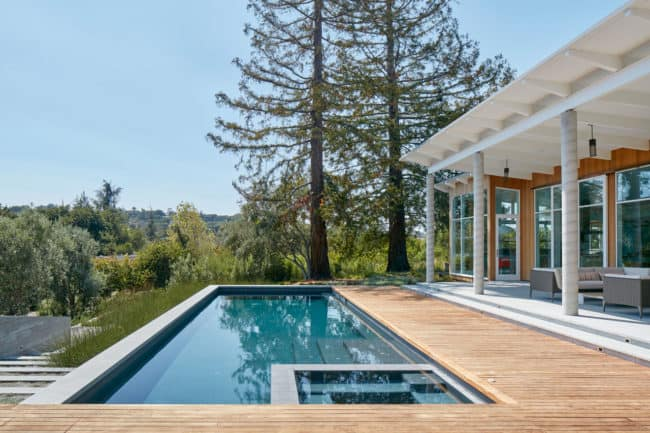 View of the Pool - California Ranch House by Malcolm Davis Architecture