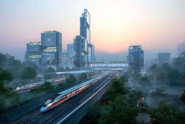 Foster + Partners wins the design competition for Guangming Hub