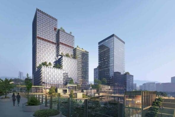 Seoul Valley Frames a Vibrant Green District in the City Center