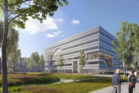 Construction begins on MVRDV's sustainable office and laboratory complex Matrix 1