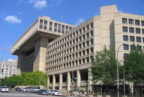 The brutalist J Edgar Hoover FBI building in Washington