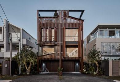 8 Albatross, a three-storey pair of beach residences in Australia