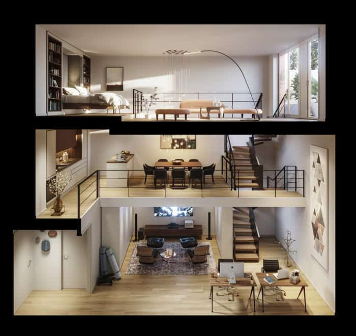 Townhouse - Interior View