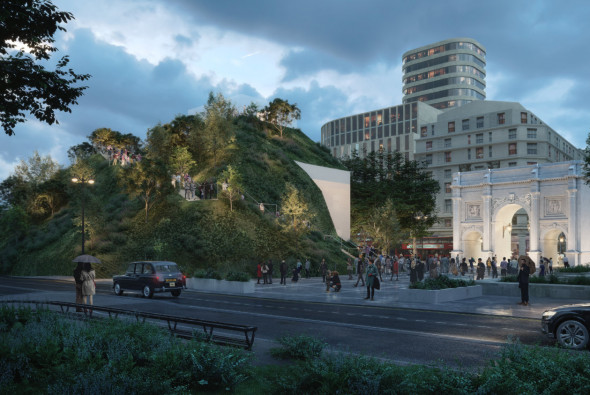 MVRDV reveals the design of London's Marble Arch Hill