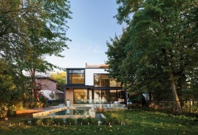 The house embraces the landscape