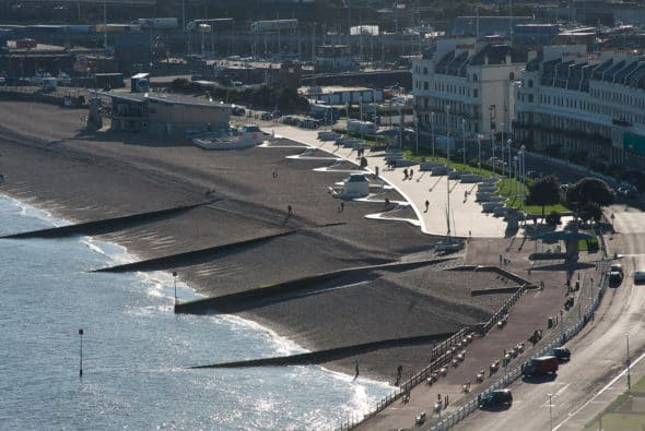 Three Waves Esplanade - a new seafront in Dover, England