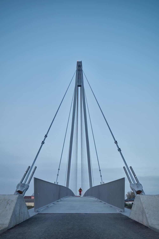 Footbridge in Lužec nad Vltavou in Czech Republic