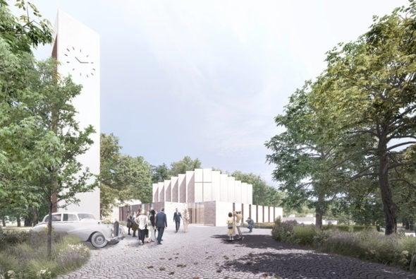 Henning Larsen is designing a New Church in Skanderborg