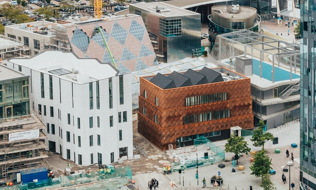 The Greenwich design district under construction, London, May 2021
