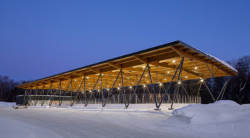 Parc des Saphirs skating rink by ABCP architecture