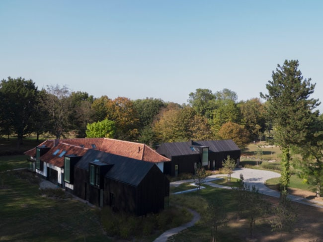 Aerial view of Residence G by Coldefy