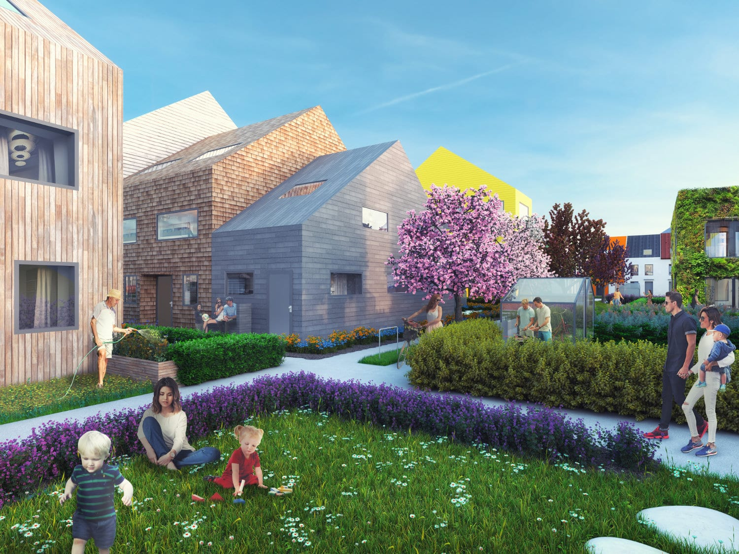 Traumhaus Funari takes a new approach to suburban development by combining affordability, individuality, and diversity