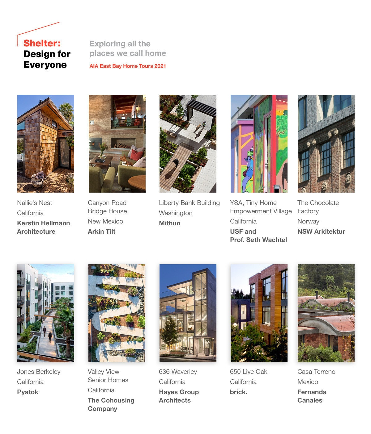 Shelter: Home Tours 2021 Explores Designs for Everyone via Livestream