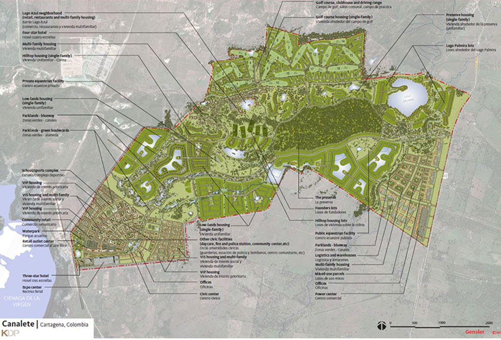 Canalete site plan, Colombia